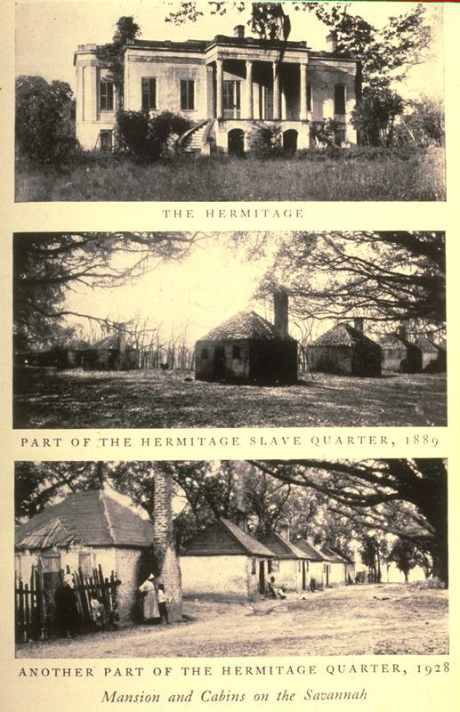 Slave Houses, Hermitage Plantation, Georgia, 1928 ...