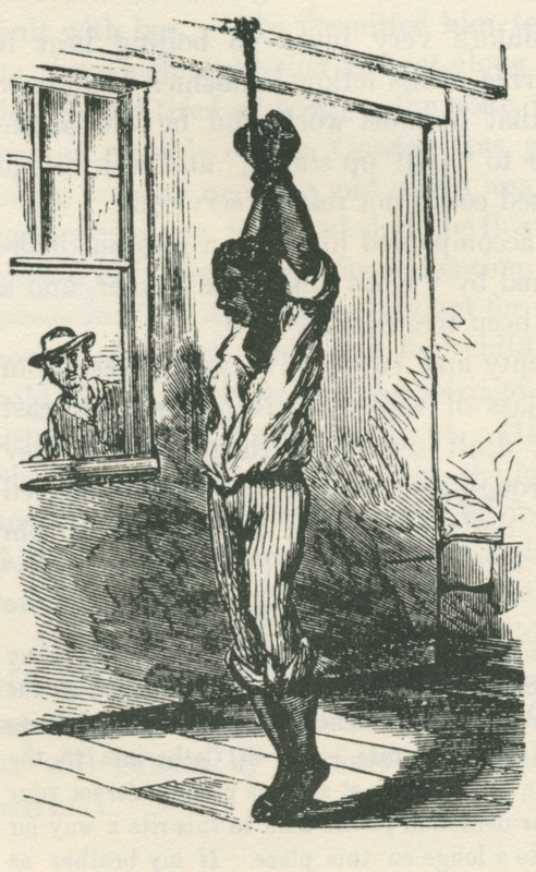 George Laws was accused by his master of mistreating a horse so that the horse refused to haul dirt. Laws is shown here being hoisted with block and tackle prior to being whipped with a cowhide; he was ultimately able to escape (case described on pp. 470-471). Still was the son of fugitive slaves and headed the underground railroad in Philadelphia through the 1850s (information provided by Phil Lapsansky, Library Company of Philadelphia).