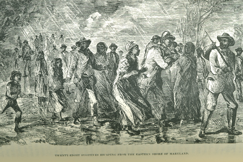 Caption, Twenty Eight Fugitives Escaping From the Eastern Shore of Maryland.  Still was the son of fugitive slaves and headed the underground railroad in Philadelphia through the 1850s (information provided by Phil Lapsansky, Library Company of Philadelphia).