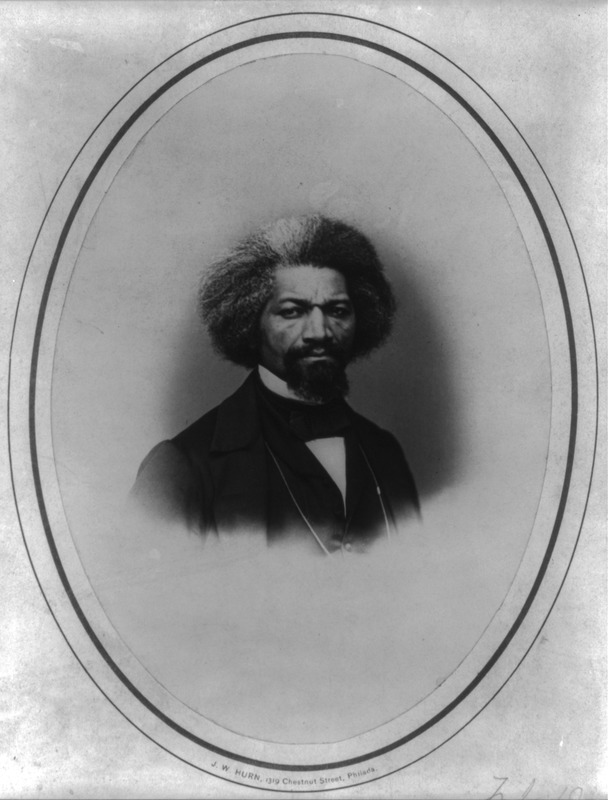 Photograph by J.W. Hurn of the celebrated American abolitionist. The Library of Congress has no catalog data on this portrait and assigns no date to it. David W. Blight, ed., Narrative of the Life of Frederick Douglass, An American Slave, Written by Himself (New York, 1993, p. 146), suggests the photograph was taken shortly after the Civil War; Douglass would have been around 47-49 at the time.