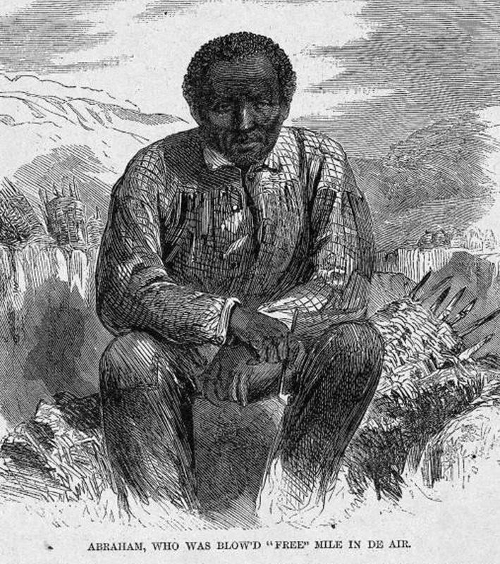 This portrait was of Abraham. who was a confederate soldier. As a slave, he worked in the mines of Fort Hill. After an explosion he was thrown high in the air and was the only survivor. Harper's Weekly: A Journal of Civilization was an American political magazine based in New York City and published by Harper & Brothers from 1857 until 1916. It featured foreign and domestic news, fiction, essays on many subjects and humor, alongside illustrations. It covered the American Civil War extensively, including many illustrations of events from the war.