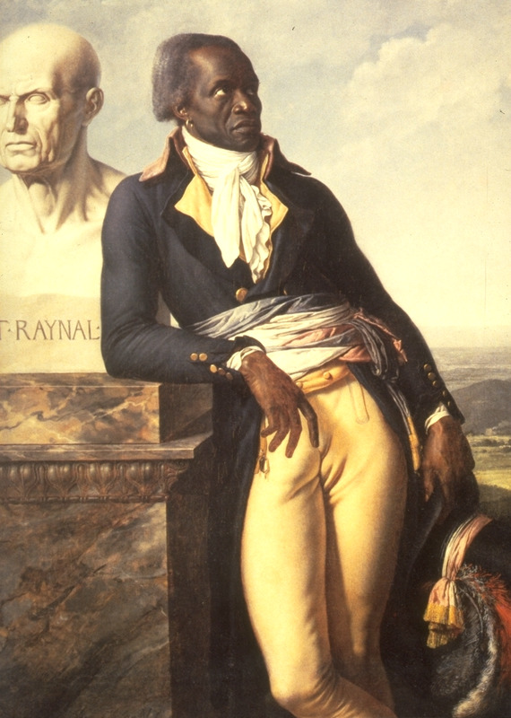 Belley was a Senegalese, born at Goree about 1747 and enslaved in St. Domingue. Later he was in the French army and in 1793 became a representative of St. Domingue to the French government, a position he continued to hold for several years. For details on Belley and this painting, which is located at the Musèe National des Chateaux de Versailles, France (which also issues it as a colored postcard), see Honour, Image of the Black, pp. 104 ff, and Laurent Dubois, Revolution & Slave Emancipation in the French Caribbean, 1787-1804 (University of North Carolina Press, 2004), pp. 66-68.