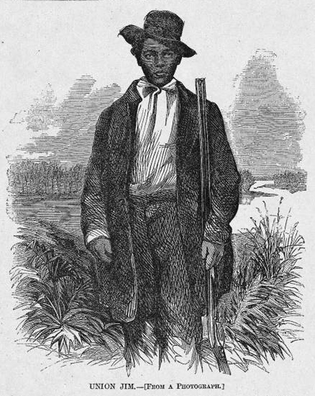 This portrait was of Jim Williams (c. 1830-1871), aka Union Jim. He was from Washington, D.C. and member of the 95th Illinois regiment. He, along with forty other African American soldiers, held off a rebel party.  Following his display of bravery, Williams wanted to raise his own company of black troops. Harper's Weekly: A Journal of Civilization was an American political magazine based in New York City and published by Harper & Brothers from 1857 until 1916. It featured foreign and domestic news, fiction, essays on many subjects and humor, alongside illustrations. It covered the American Civil War extensively, including many illustrations of events from the war.
