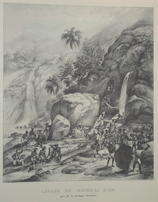 Scene near Itagolomi mountain. For an analysis of Rugendas' drawings, as these were informed by his anti-slavery views, see Robert W. Slenes, African Abrahams, Lucretias and Men of Sorrows: Allegory and Allusion in the Brazilian Anti-slavery Lithographs (1827-1835) of Johann Moritz Rugendas (Slavery & Abolition, vol. 23 [2002], pp. 147-168).