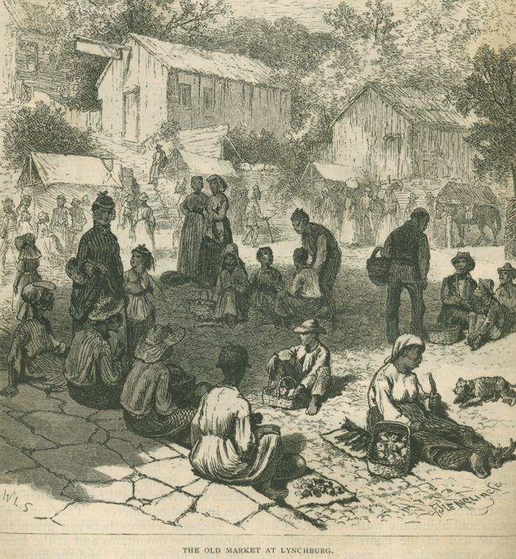 Captioned, The Old Market at Lynchburg, King describes his visit to the marketplace (pp. 554-555).